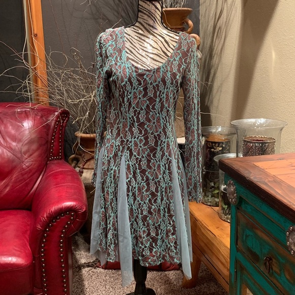 Areve Dresses & Skirts - NWT • turquoise brown lace tutu dress